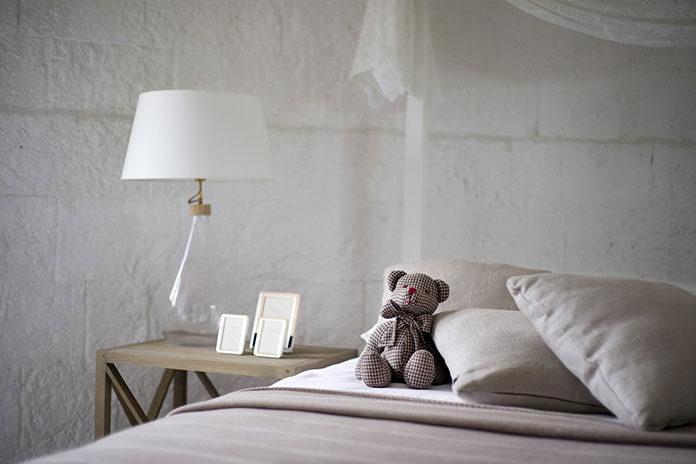 Pikowane łóżko do sypialni